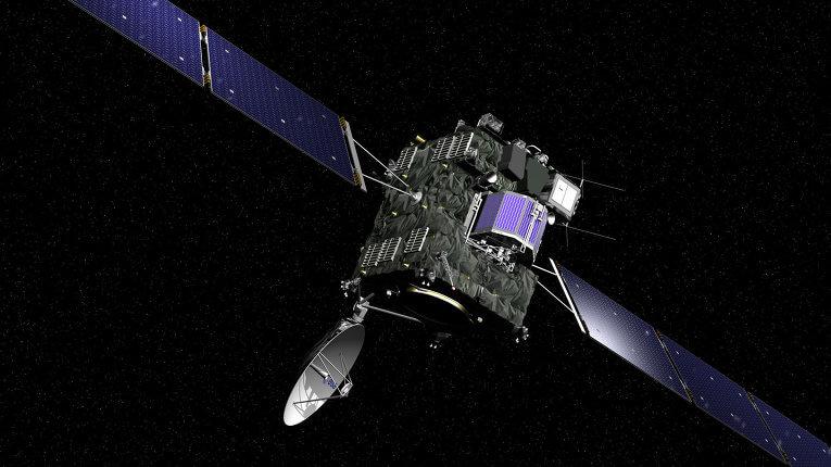 """""""Розета"""" със спускаемия модул """"Фила"""". © DLR"""