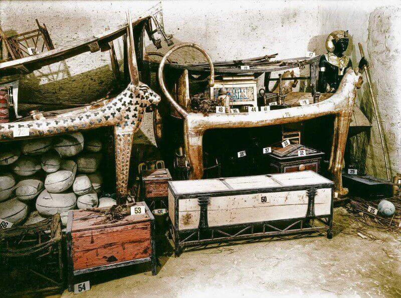 позлатено ложе, гробница на Тутанкамон
