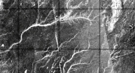 Радарна снимка на древната речна система. © Philippe Paillou