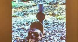 разрязан череп, уранова мина Чукотка
