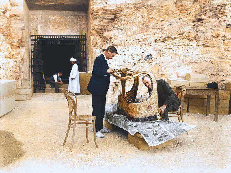 златна колесница, гробница на Тутанкамон
