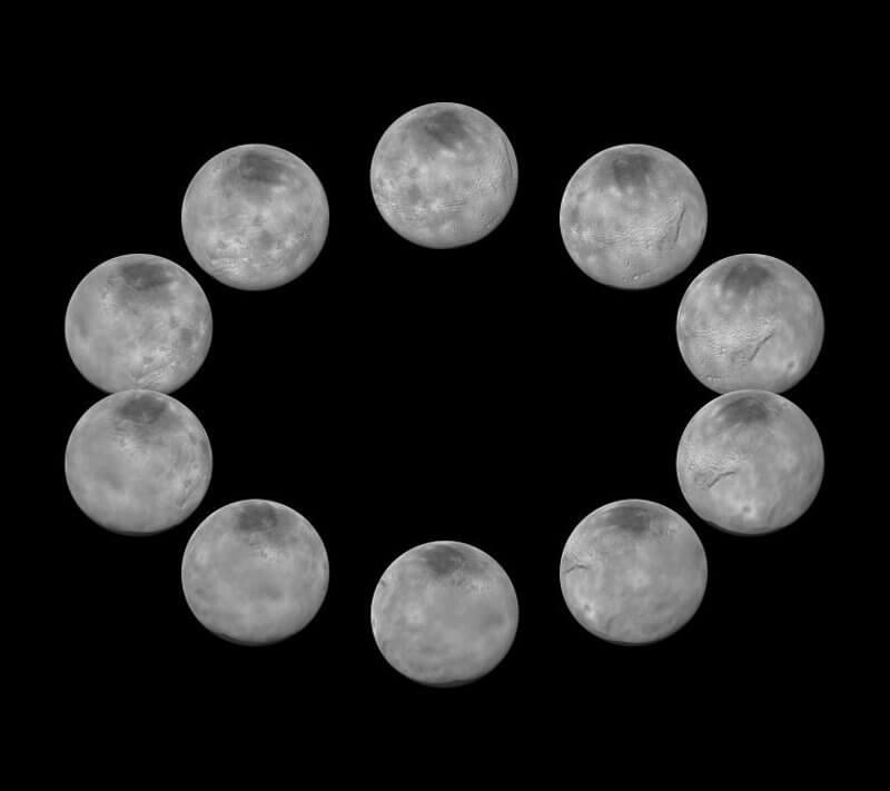 Фазите на въртене на Харон. © NASA/ JHUAPL/SwRI