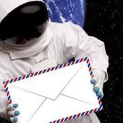 астронавт, писмо