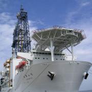 Сондажният кораб Chikyu ще се използва на последния етап от проекта SloMo. © Gleam/ Wikimedia Commons