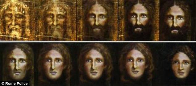 Христос, Торинска плащаница