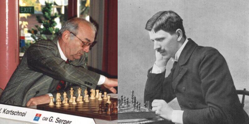 Виктор Корчной (вляво) и Геза Мароци. Снимки: Wikimedia Commons, Колаж: Мегавселена
