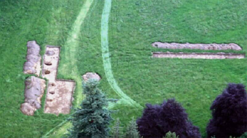 Разкопките в Уорън Фийлд от птичи поглед. University of Birmingham / Youtube