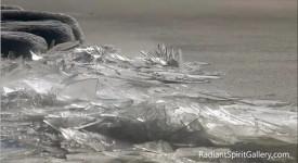 лед, езеро, зима, студ