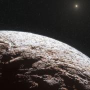 Художествено изображение на планетата джудже Макемаке. © ESO/L. Calçada/Nick Risinge