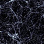 Разпределение на тъмната материя в моделирането на Illustris. © Markus Haider / Illustris collaboration