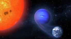 Художествено изображение на превръщането на мини-Нептун в земеподобна планета. ©  Rodrigo Luger, adapted from NASA images