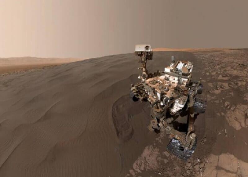 Curiosity на дюната Намиб. © NASA/JPL-Caltech/MSSS