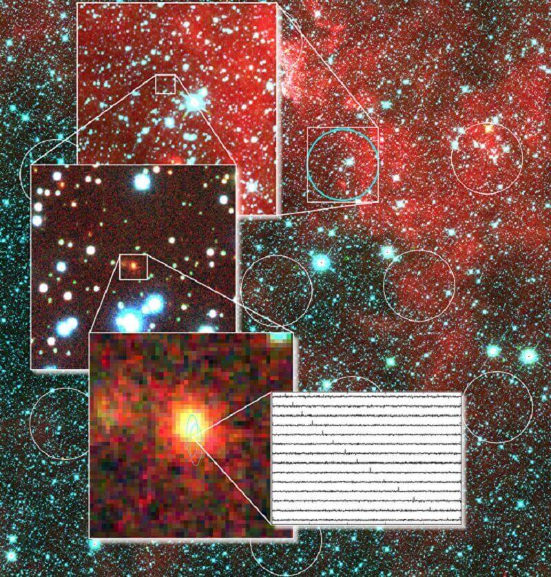 Галактиката, породила извънземните сигнали. © David Kaplan & Evan Keane