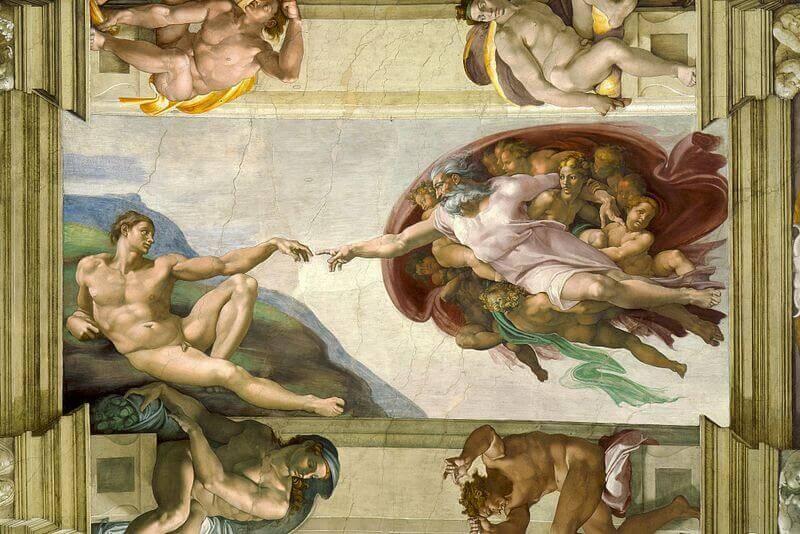Микеланджело, Сътворението на Адам