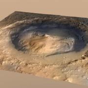 Кратерът Гейл. © NASA/ JPL