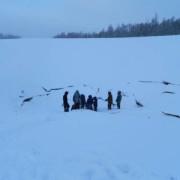 свистящо езеро, Якутия, замръзнало езеро