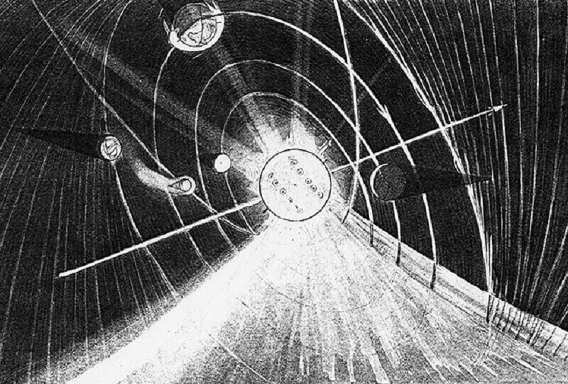 Слънчевата система според доктрината на вечния лед. Technisches Museum Wien