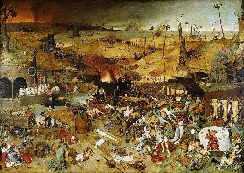 Триумфът на смъртта, Питер Брьогел Стари, 1562. (Public Domain)