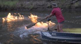огън във вода, горяща вода