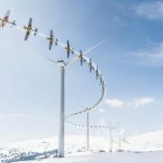 самолет, ветрогенератор