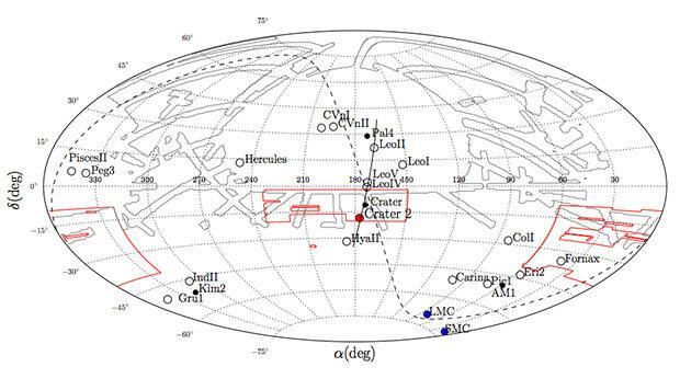 Разположение на откритите обекти. Изображение: arXiv.org