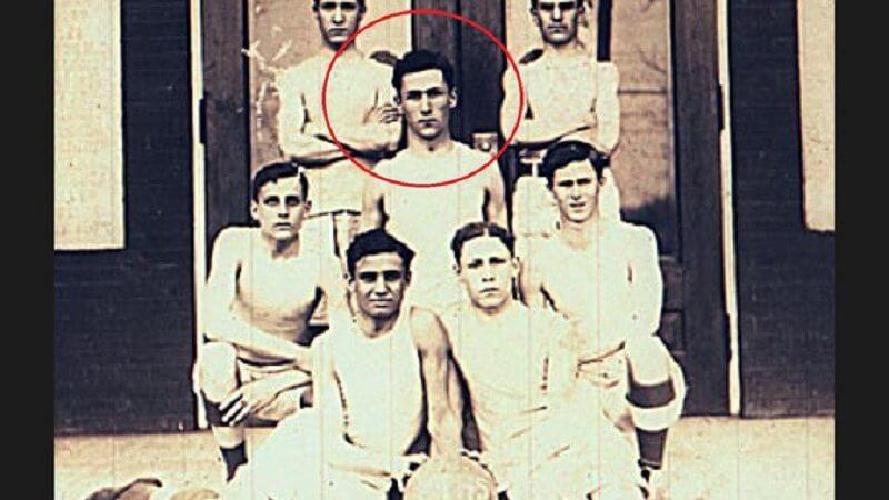 Хари Леп в баскеболния отбор в средното училище.
