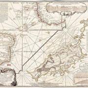 Карта на Антарктида на Филип Буше, гравирана върху мед  (63,5 х 48,3 см). Public Domain