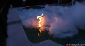 горящ басейн