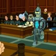 съдебна зала, дело, адвокат, изкуствен интелект, робот