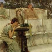 Сафо и Алкей, 1881. Фрагмент. Lawrence (Alma-Tadema / Walters Art Museum)