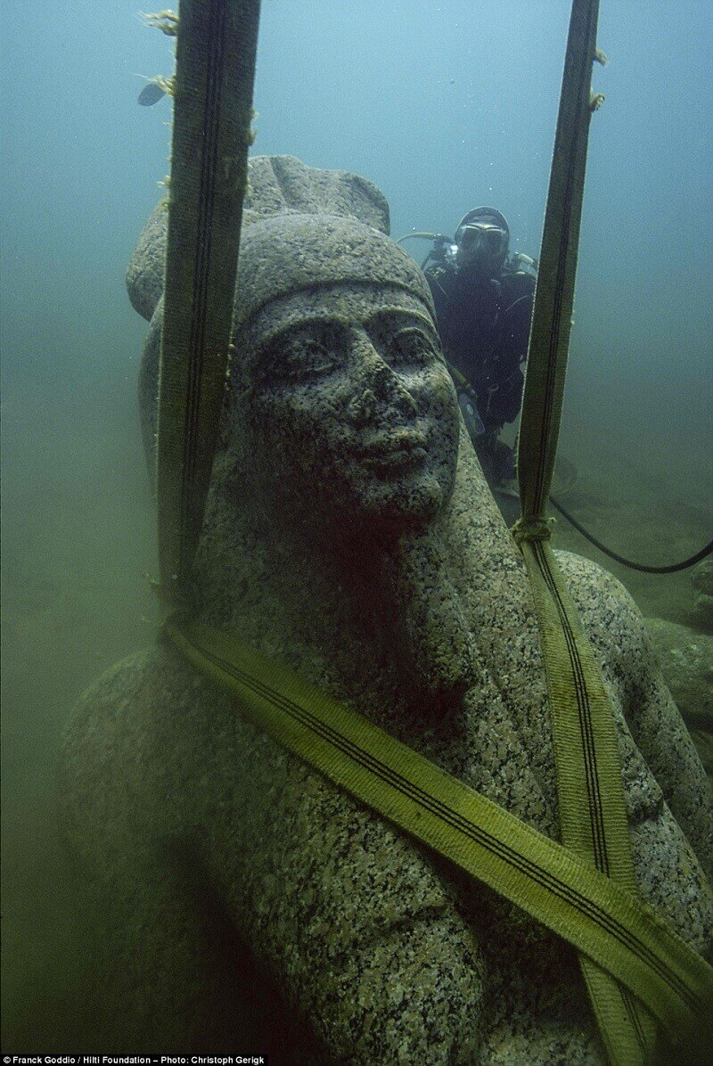 бог Хапи, Египетска Атлантида, Хераклион
