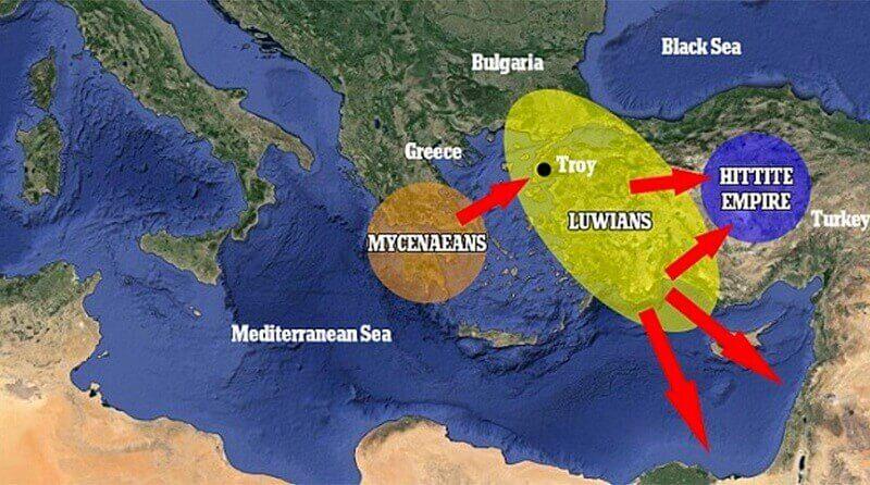 Нулева световна война, Троянска война, лувийци
