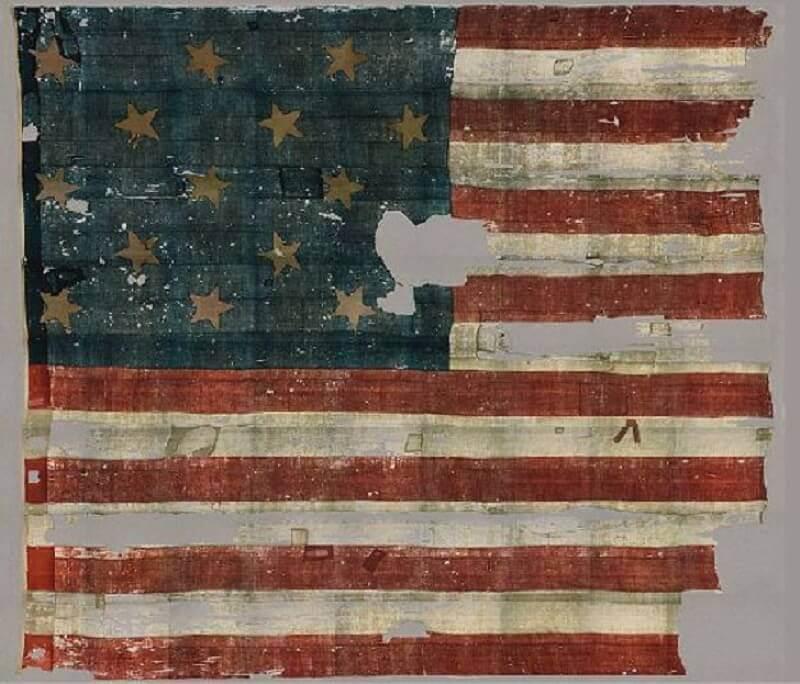 унищожено американско знаме, битка за Балтимор