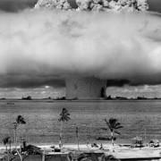 Ядрено изпитание на атола Бикини, 1945 година. © United States Department of Defense