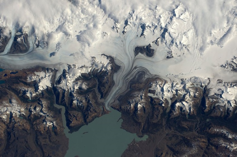 "ESA astronaut Tim Peake took this image from the International Space Station during his six-month Principia mission. He commented: ""One of my favourite pics so far â Patagonia's beautiful southern ice field.""Professional photographer Max Alexander has known Tim Peake from before his launch into space and gave Tim photography tips during his mission. Max comments: ""A Patagonian ice field spills into the ocean at the southern tip of Chile, seeming to create swirls of chocolate and cream frozen in time. This is one of Tim's favourite photographs - maybe he's missing ice cream⦠"""