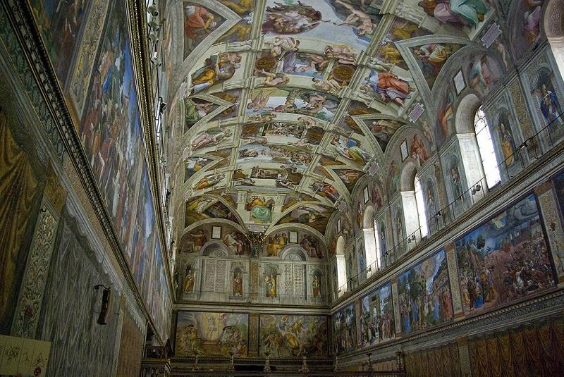 Микеланджело, Покривът на Сикстинската капела