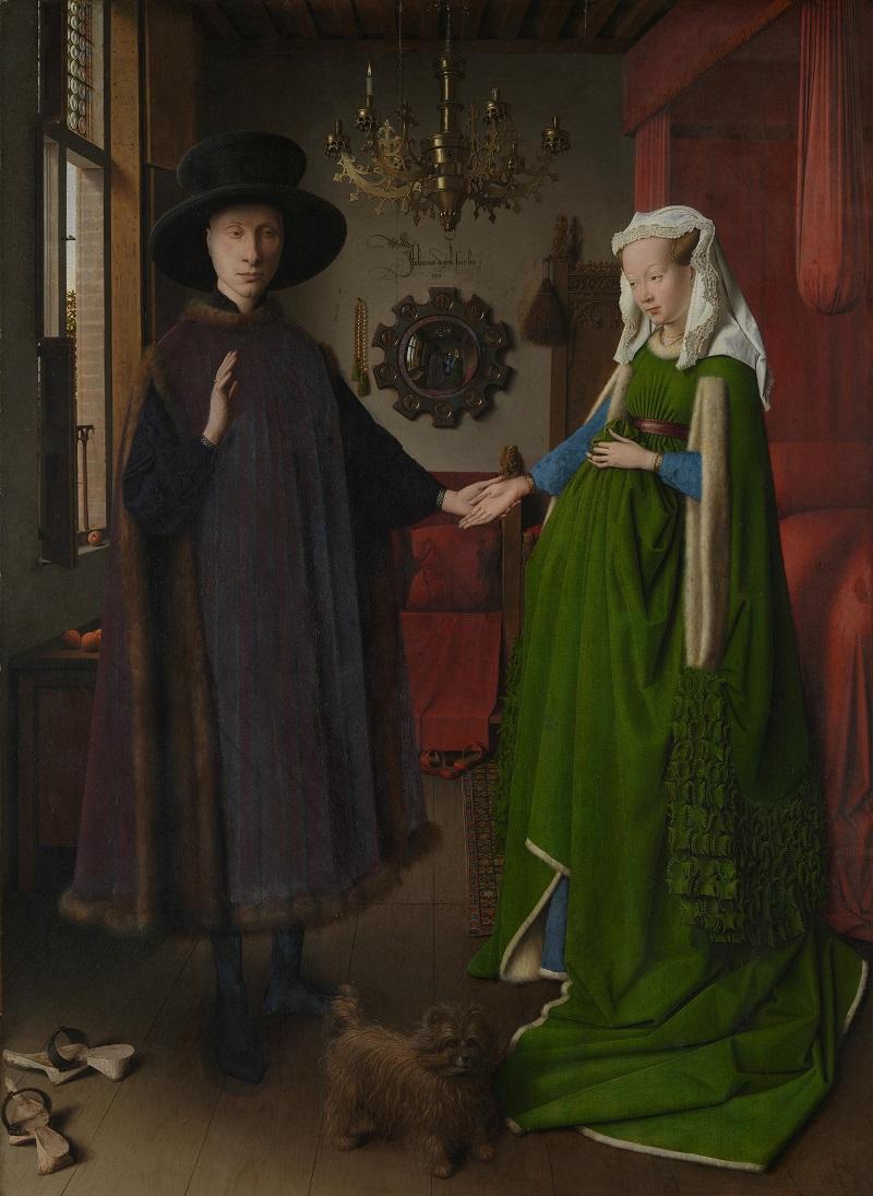 """Ян ван Ейк, """"Портрет на семейство Арнолфини"""""""