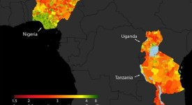 Stanford researchers combine high-resolution satellite imagery with powerful machine learning algorithms to predict poverty in Nigeria, Uganda, Tanzania, Rwanda and Malawi. Credit: Neal Jean et al. Bild zum Download: http://www.eurekalert.org/multimedia/emb/122068.php