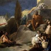 Зевс на планината Ликея: картина на Джовани Батиста Тиеполо