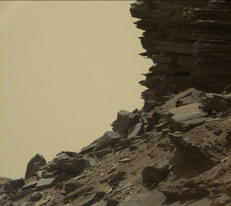 SPACE-US-NASA-MARS-CURIOSITY: Върховете Мъри - ясно се виждат пластовете, от които е изградена скалата