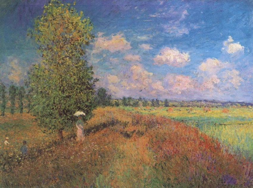 The Summer, Poppy Field, Claude Monet, 1875