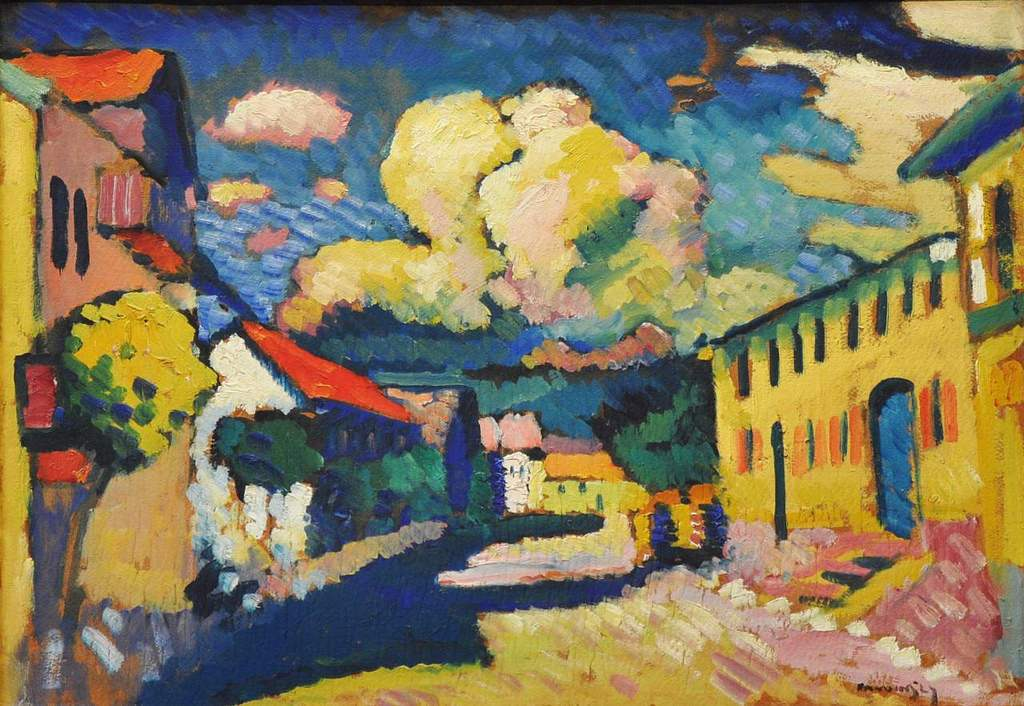 Vassily Kandinsky, 1908, Murnau, Dorfstrasse