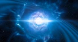 На снимката (художествена импресия) се виждат две малки, но много гъсти неутронни звезди в точката, в която се сливат и експлодират като килонова. Такова много рядко събитие се очаква да доведе както до гравитационни вълни, така и до кратко гама-лъчение, и двете от които бяха наблюдавани на 17 август 2017 г. от LIGO-Virgo и Fermi / INTEGRAL. Последващите подробни наблюдения с много ESO телескопи потвърдиха, че този обект, наблюдаван в галактиката NGC 4993 на около 130 милиона светлинни години от Земята, всъщност е килонова. Такива обекти са основният източник на много тежки химически елементи, като златото и платината, във Вселената.