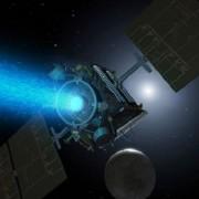 Йонният двигател на космическата сонда Dawn.