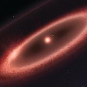 Художествена импресия на поясите от прах около Проксима Центавър (ESO/M. Kornmesser)