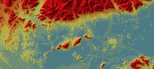 Карта на Лиангджу и хидротехническата система в долното течение на Яндзъ