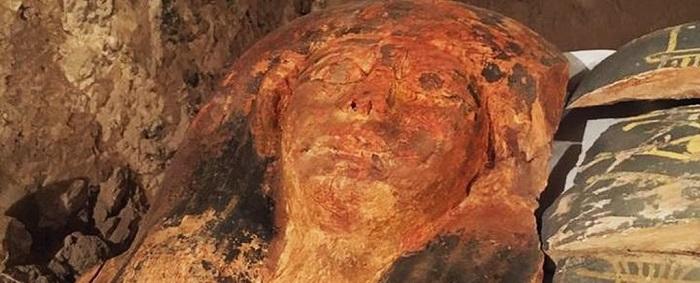 Мумията, открита в Камп 150. Снимка, Египетско министерство на древното наследство