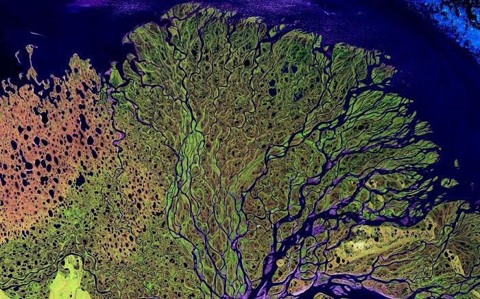 Река Лена, НАСА