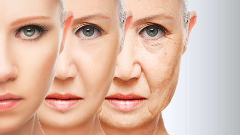 beauty concept skin aging. anti-aging procedures, rejuvenation, lifting,