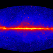 Fermi gamma ray sky (NASA)
